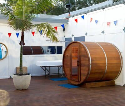 Image 3 - Big Brother 2012 Barrel sauna view from the pool