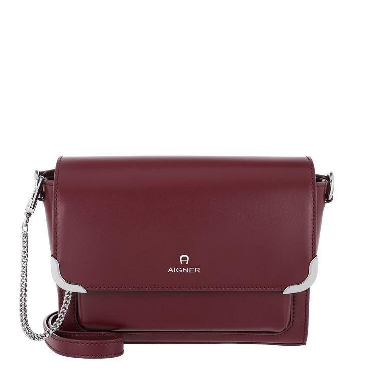 Handtasche, Aigner, Amber Crossbody Bag S Burgundy
