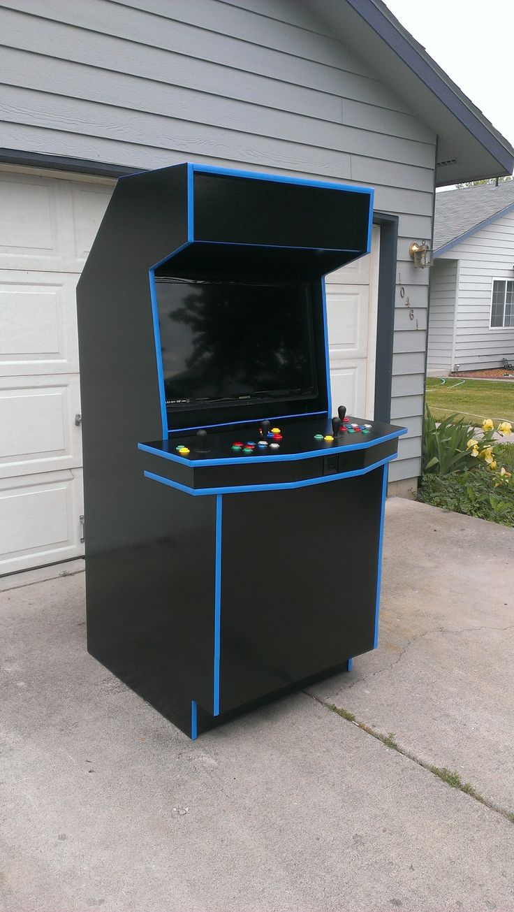 cabinet construction retrocade custom arcade cabinet with ouya inside its 12783