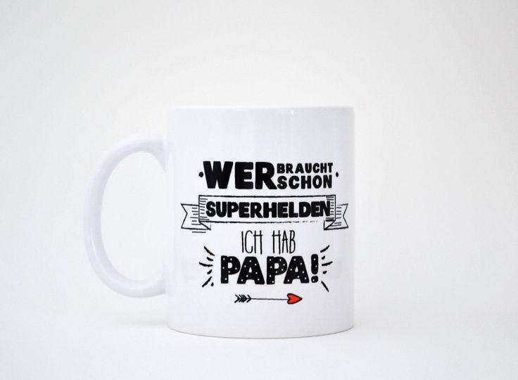 Superhelden+Papa+-+Tasse+/+Becher++von+FORMART+-+Zeit+für+Schönes!+auf+DaWanda.com