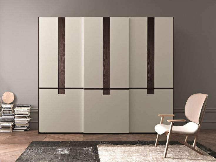LACQUERED WARDROBE WITH SLIDING DOORS SKYLINE COLLECTION BY SMA MOBILI