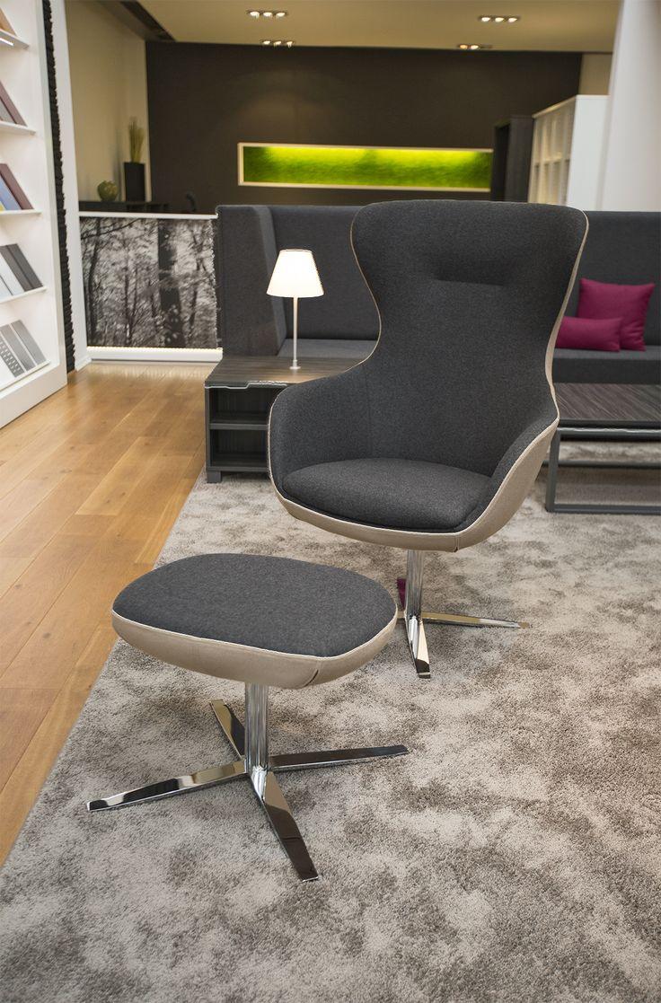 Sessel Cosy von Febrü: Der drehbare Relaxsessel Cosy bietet wohnliches Ambiente im Büro. Mit seinem hohen Rücken lädt Cosy zum relaxen und entspannen ein und vermittelt ein Gefühl der Geborgenheit.
