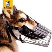 KIMHOME MASCOTA Fuerte de Metal Cesta De Alambre Correas de Ajuste Máscara Hocico Del Perro Cesta Diseño Anti-morder Masticar Bozales Envío Gratis XXL