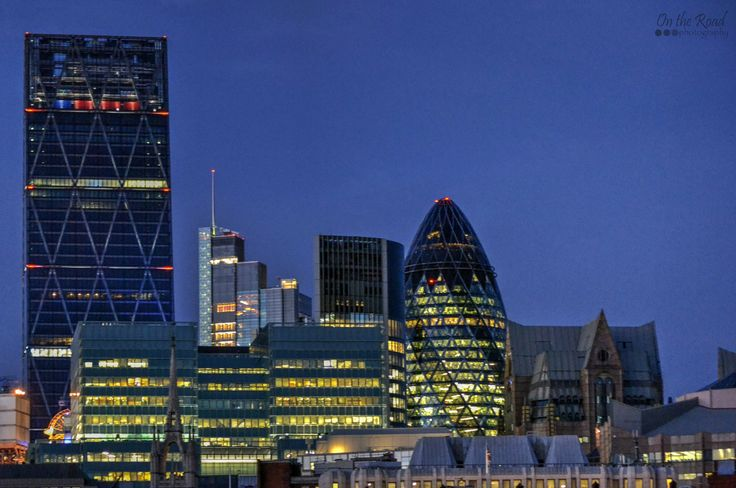 And here's my favorite view over the financial district in London. London looks so different at night-time.