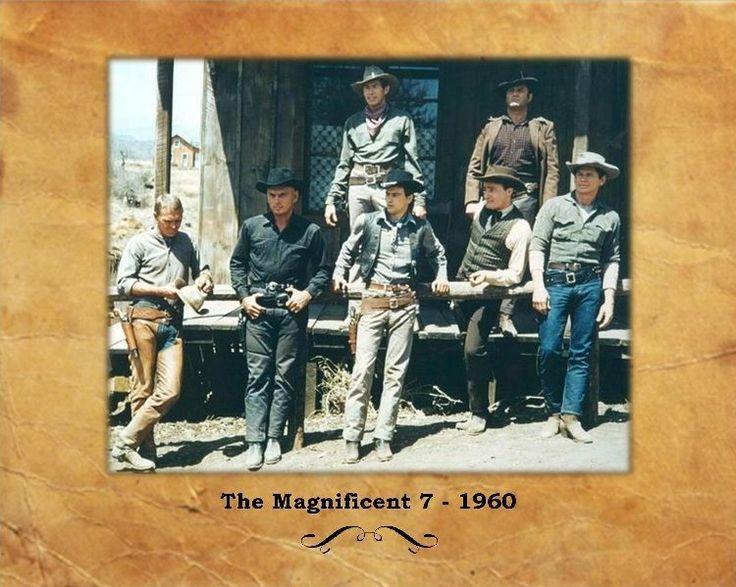 Magnificent 7, Yul Brynner Steve McQueen Charles Bronson Eli Wallach  8X10 Photo