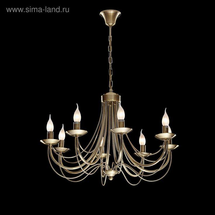 """Люстра """"Гласис"""" 8 ламп 60W Е14 античная медь"""