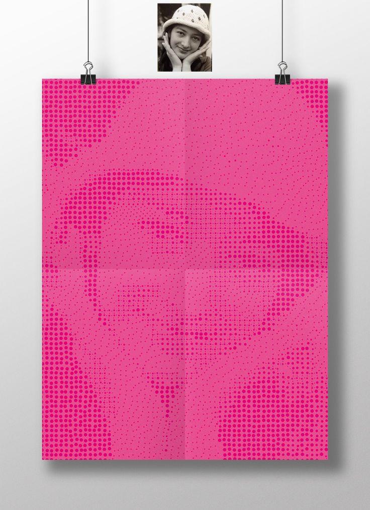 Retrato Ilustracion basada en semipuntos hechos en un ipad cualquier tamaño