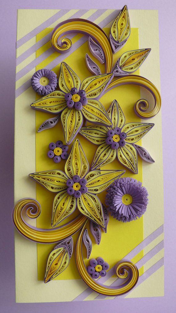 Квиллинг лилии открытка, надписью удалилась