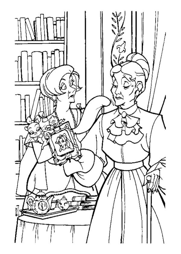 Disney Anastasia Coloring Page Coloring pages