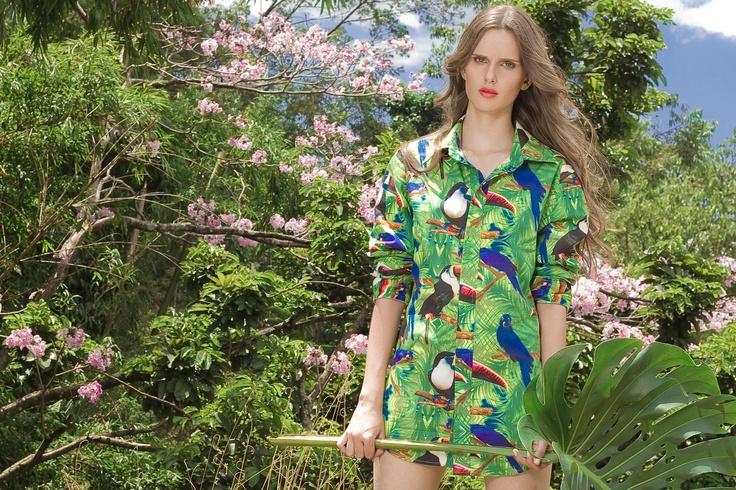 """Campaña """"Selva,corazón y piel"""" Ana Arango, Pijamas de lujo."""