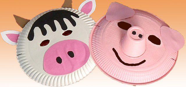 Máscaras hechas con platos