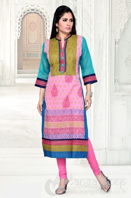 http://www.mangaldeep.co.in/latest-kurties/awesome-pink-party-wear-ready-made-kurti-5379 For further inquiry whatsapp or call at +919377222211