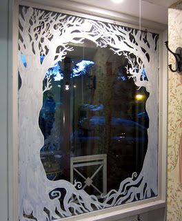 Window Painting  Murals, Dublin: Avoca Kilmacanogue Christmas Window Display