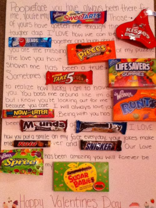 candy love note ♥ so doing this for my baby cakes on valentines day!!!
