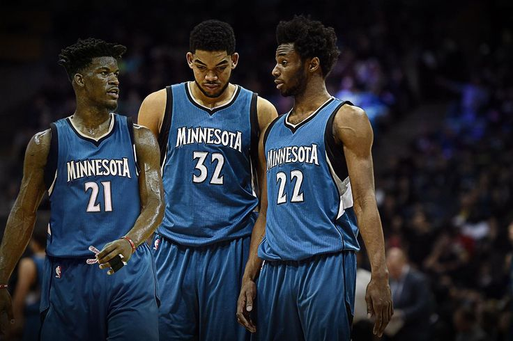 Jimmy Butler, Karl-Anthony Towns, Andrew Wiggins