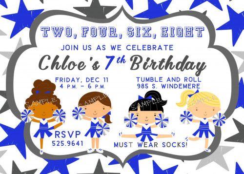 123 best GIRL Birthday Party Invitations NEW images – Cheerleading Birthday Party Invitations
