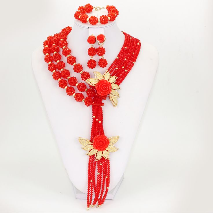 Find More Jewelry Sets Information about CZ 2016  Luxury High Quality African Beads Jewelry Set Red Orange Blue Purple Beads Layers For Women Wedding And Party,High Quality layer mp3,China beaded mermaid Suppliers, Cheap beaded pouch from YIWU  CZ Jewelry  Co. on Aliexpress.com