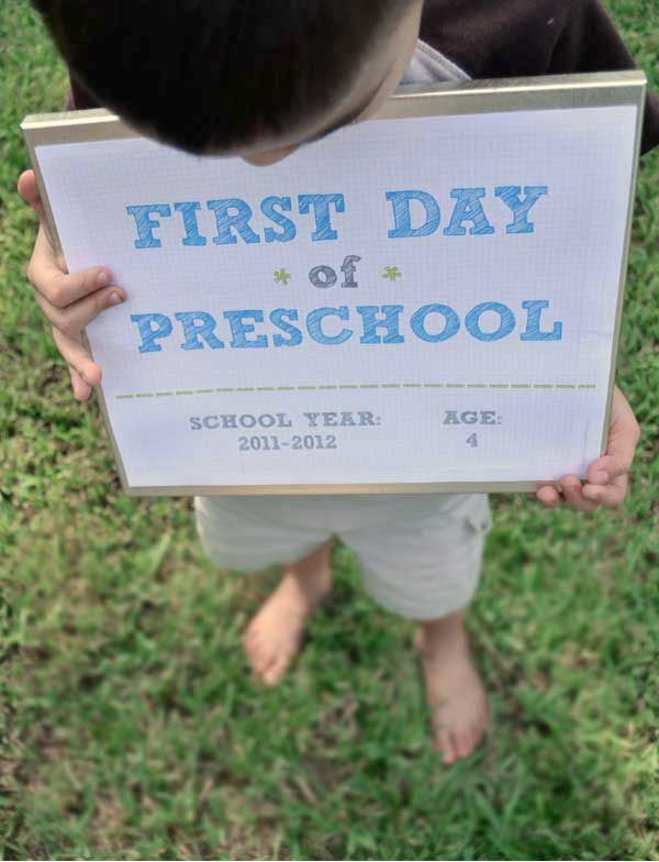 1st day of school printable (editable)
