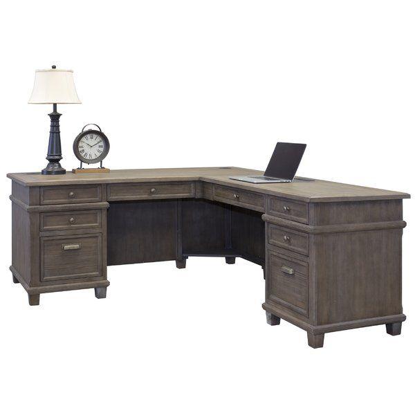 Larissa Solid Wood L Shape Executive Desk L Shaped Executive Desk Executive Desk L Shaped Desk