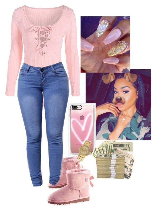 """""""Just a lil something"""" by badgirlbrie on Polyvore featuring Casetify and Michael Kors"""