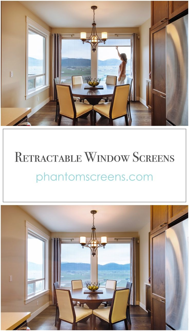 Complete Privacy, Only When You Need It! Retractable Window Screens By  #PhantomScreens