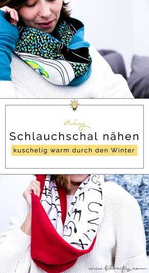 0c2196feb1670f DIY Fashion: Schlauchschal nähen in 10 Minuten | selbstgemacht ...