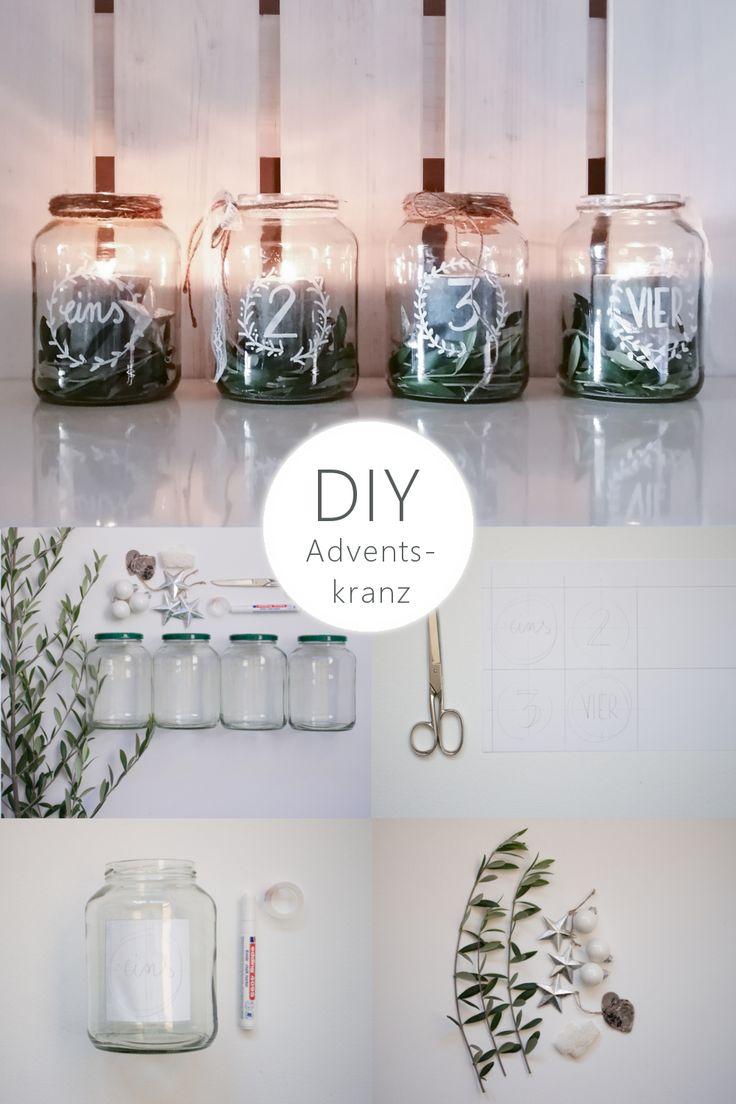 DIY Upcycling Adventskranz