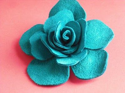 Felt rose tutorial.  I made one tonight and it turned out so cute!