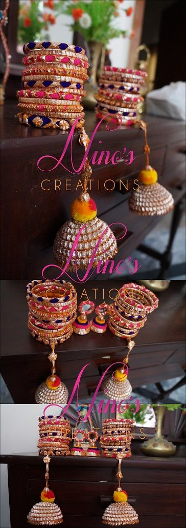 bangles,jhumkay handmade by https://www.facebook.com/pages/Ninos-creations/123853704344831