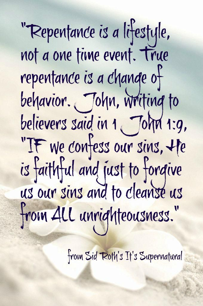 Repentance.... 1 John 1:9