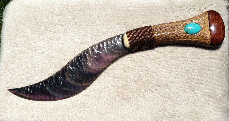One Of Myron Nix S Beautiful Obsidian Knives A 20 Inch