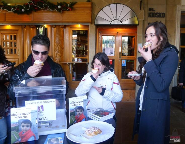 mmm... qué rica estaba la #TapaSolidaria del #Kiosko! @autismonavarra @hostnavarra #Navarra #gastronomia