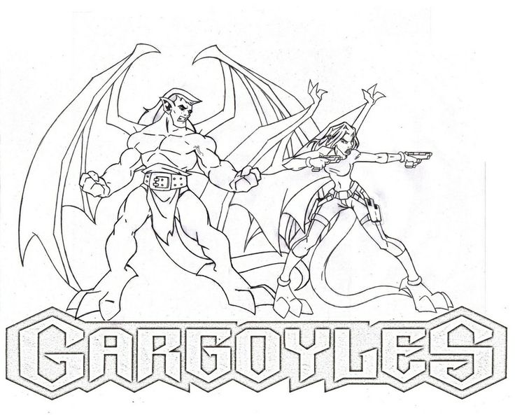 gargoyles characters coloring pages - photo#1