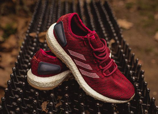 Chaussures pas cher course Gentleman adidas Pure Boost 2017 UK Burgundy Mystery Red Night Navy BA8895