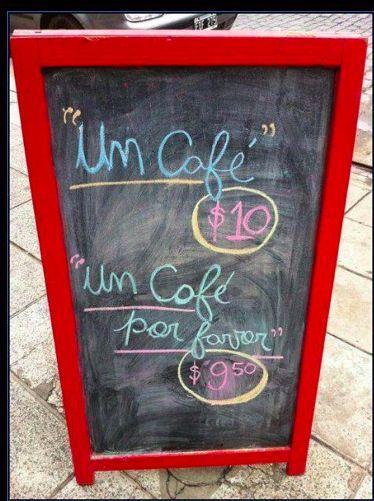 Un café, por favor. Repinned by http://www.Basic-Spanish-Words.com/