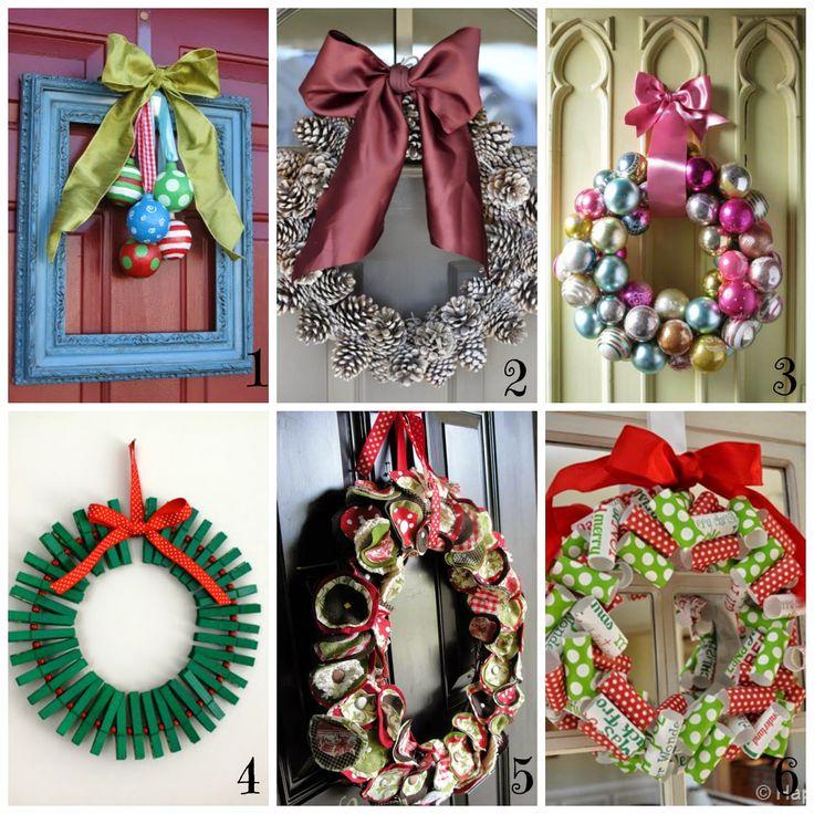 donneinpink- fai da te e consigli per gli acquisti: Ghirlande di Natale fai da te - 12 tutorial sempli...