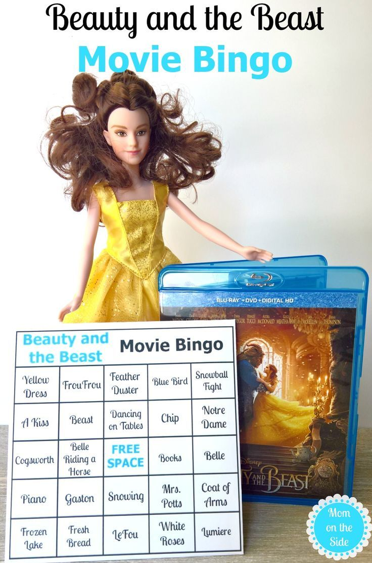 Beauty and the Beast is out on Blu-ray, Beauty and the Beast Bingo makes a great addition to movie night! Plus, a new Enchanting Melodies Belle Doll via @momontheside