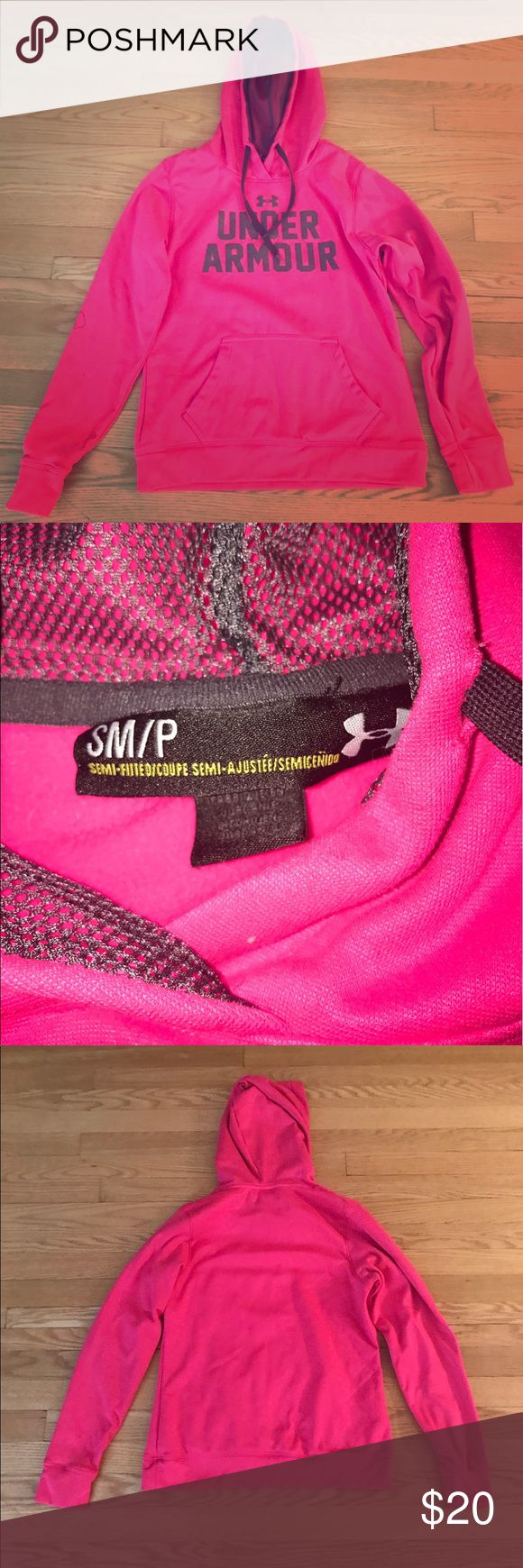 ☀️Under Armour Pink Hoodie☀️ This item up for your consideration is a women's small pink hoodie by Under Armour. It is in excellent condition! No stains, rips or tears! Under Armour Tops Sweatshirts & Hoodies
