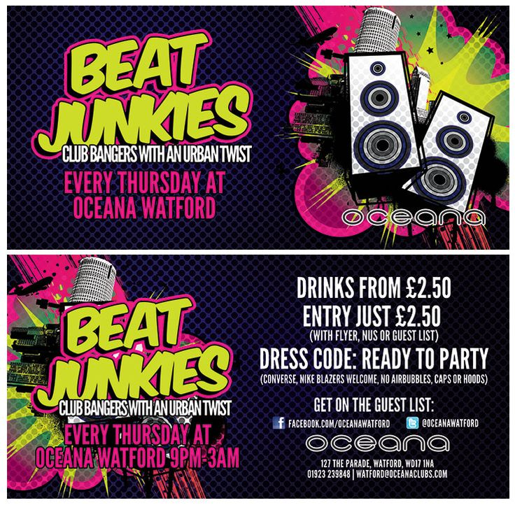 Beat Junkies every Thursday! www.oceanaclubs.com/watford