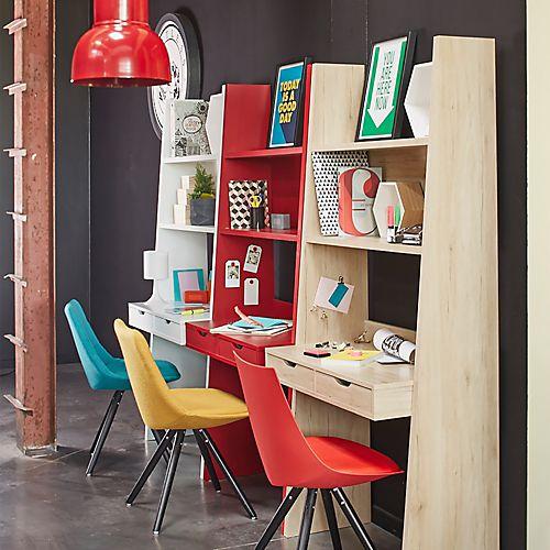 Yolo - Bureaux enfants-Meubles pour chambre enfant Bureau étagère à 2 tiroirs (plusieurs coloris disponibles)
