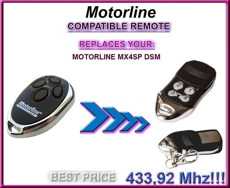 The remote for Motorline MX4SP DSM replacement remote control top quality #Affiliate