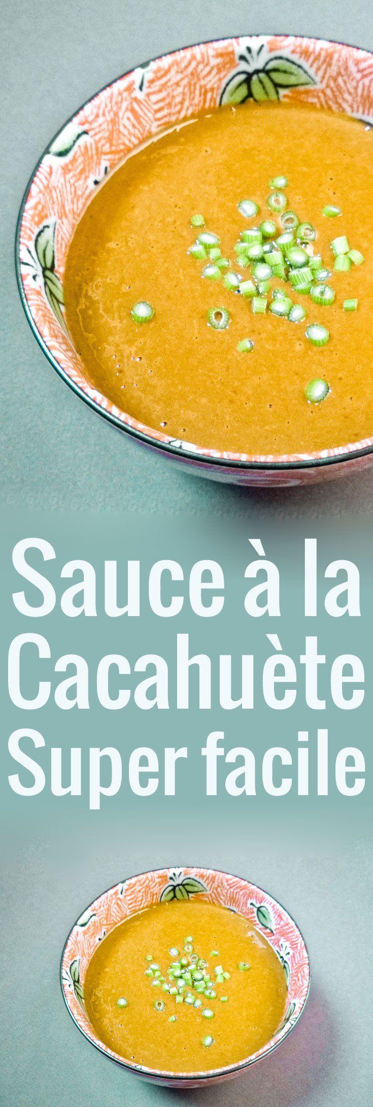Une recette facile pour une sauce à la cacahuète délicieuse, à garder sous la main pour en mettre un peu partout : nouilles, légumes, viandes et poissons.