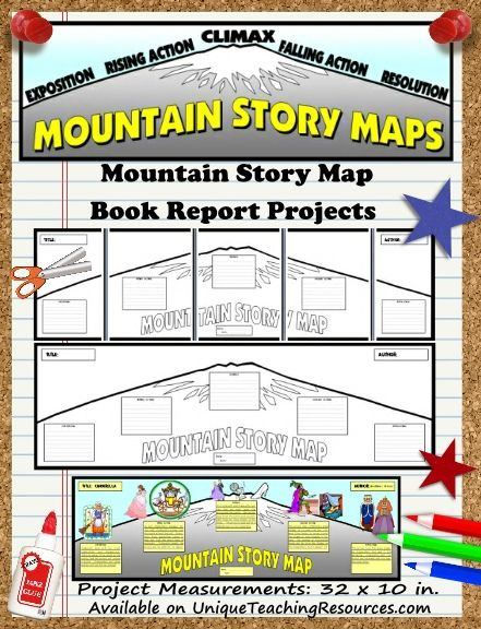 Creative Book Report Project Ideas - Mountain Story Map Templates