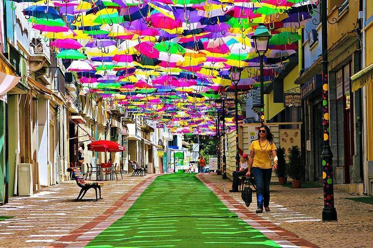 A street in Agueda, Portugal
