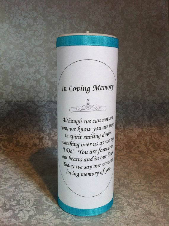 The 25+ best Memory candle wedding ideas on Pinterest ...