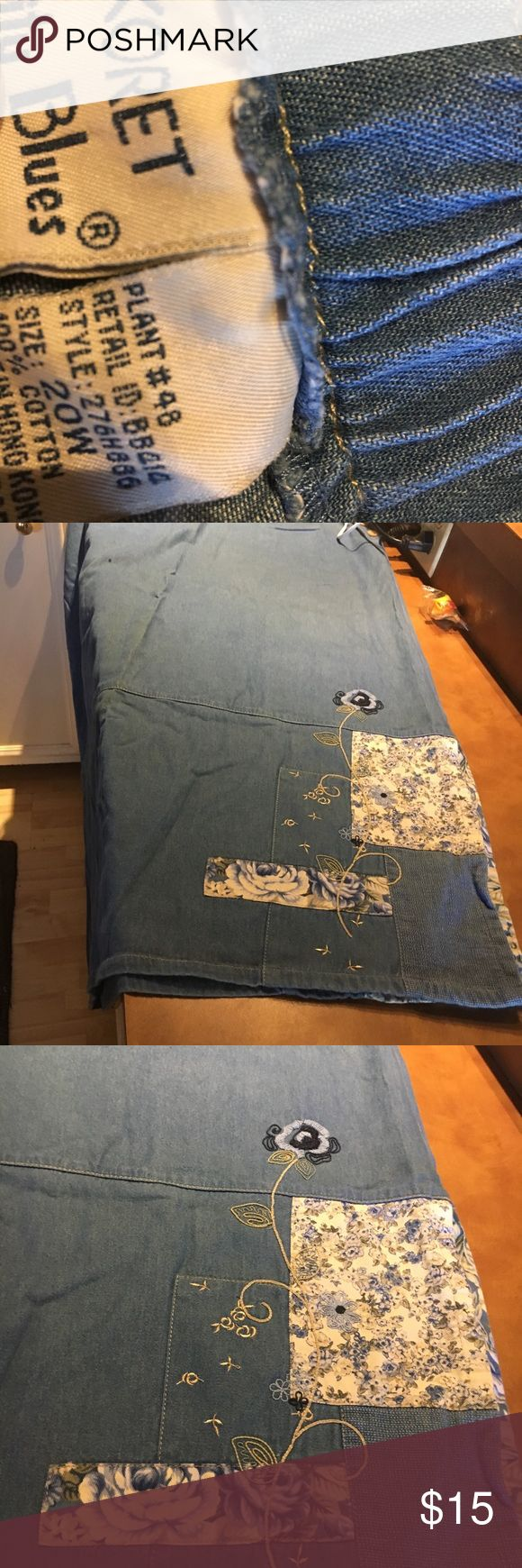 Koret ladies denim plus size skirt Unique denim skirt beautiful details to this size 20w skirt Koret Skirts Maxi
