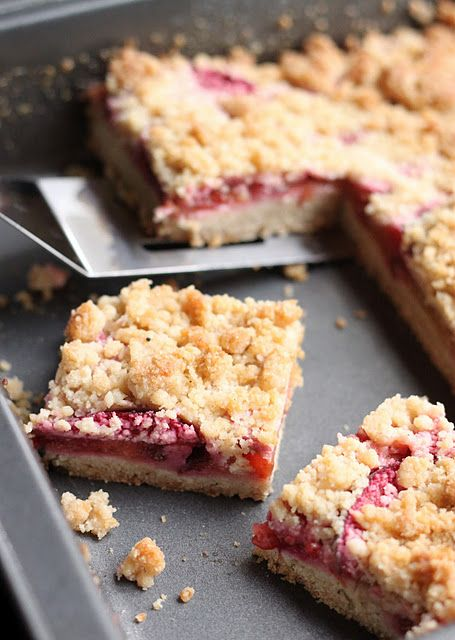 Plum Crumble Bars - @Jill Phillips - you could try something like this with some of your cherries or apricots!