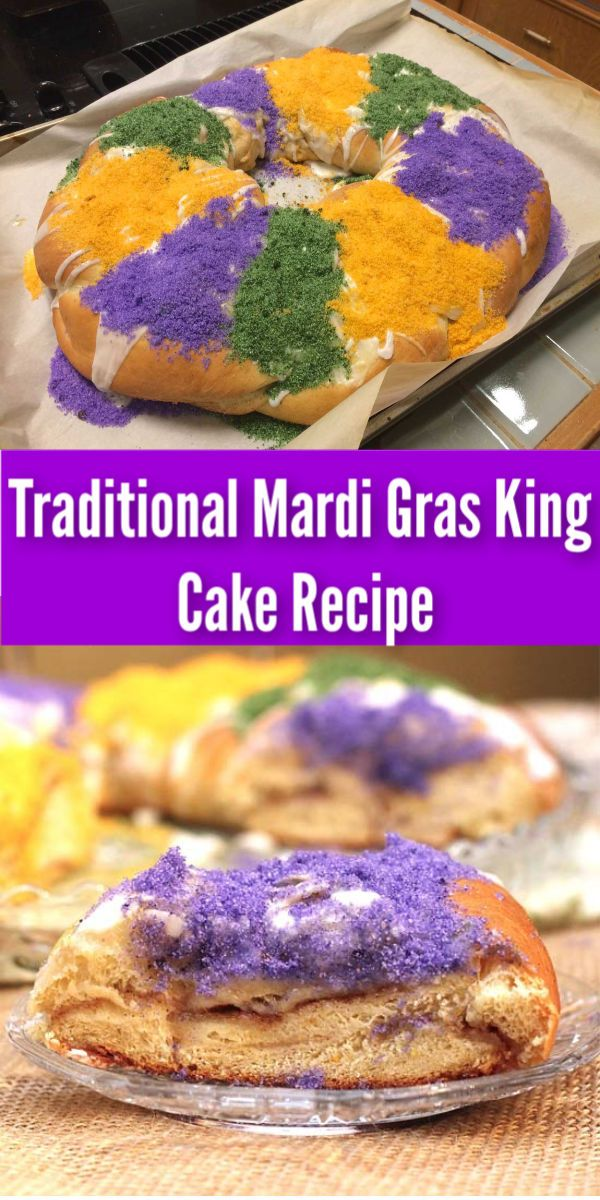 Traditional Mardi Gras King Cake Recipe Zagleft Recipe In 2020 King Cake Recipe Mardi Gras King Cake Sweet Recipes Desserts