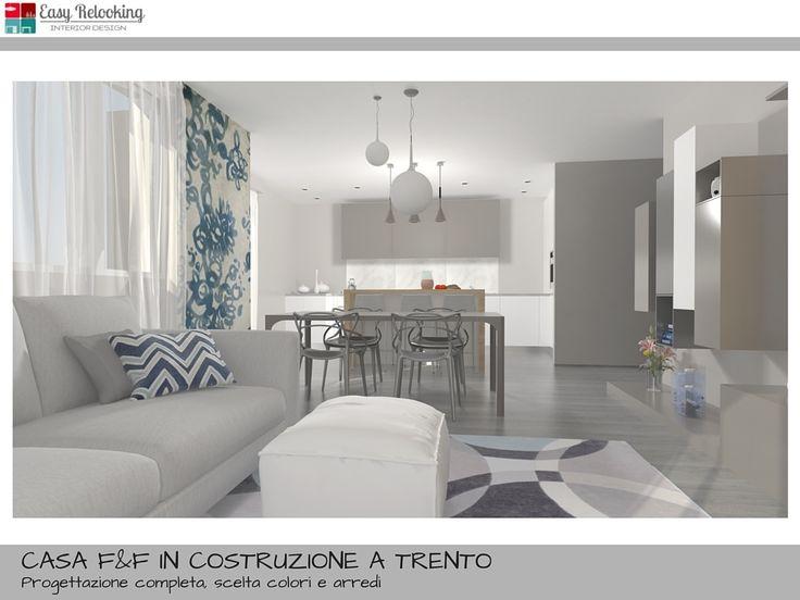 Una progettazione di interni completa per una villa indipendente disposta su due piani.