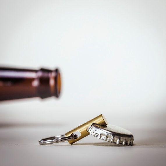 Herramienta llavero llavero botella abrelatas - EDC herramienta - CNC latón